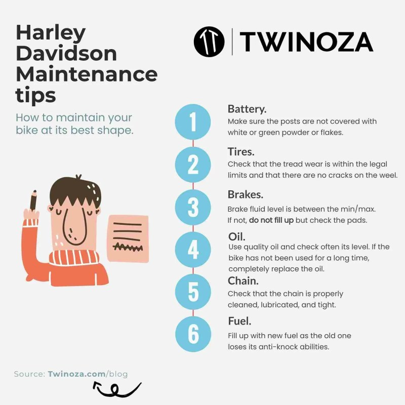 Harley Davidson Maintenance tips - Twinoza