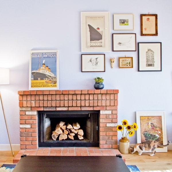 fireplace-picture-arrangement