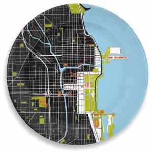 Chicago map plate
