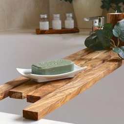 Olive Wood Bath Bridge