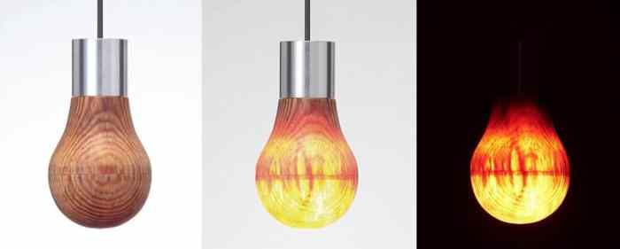Light-bulb-wooden