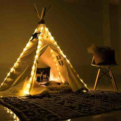 ultimate playroom teepee lights