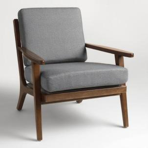 Slate Grey Xander Armchair, World Market
