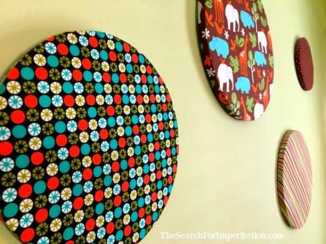 DIY Kids Decor Fabric Circles