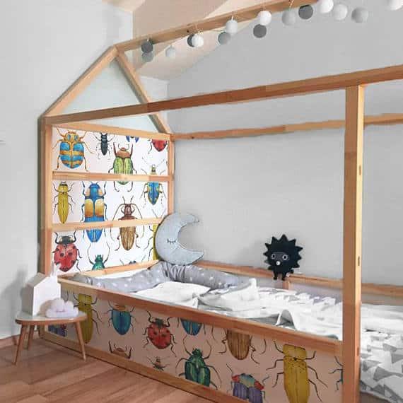 Bugs IKEA kids bed decals
