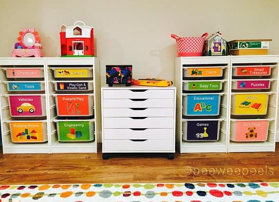 Storage decals kids IKEA storage