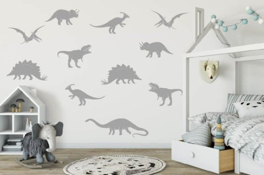 Gray Dino Decals