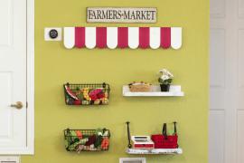 DIY Market Stall for Kids Playroom