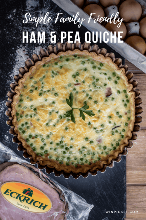 Simple Family Friendly Ham and Pea Quiche Recipe