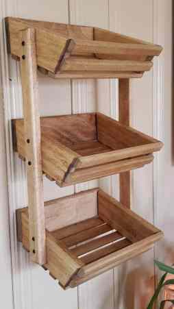 Wooden Kitchen Organizer