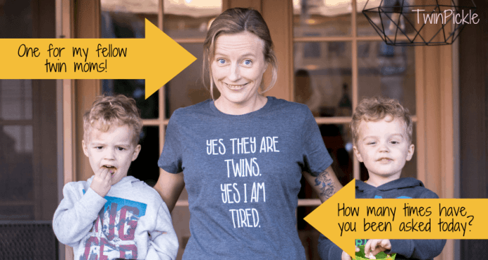 Funny Twin Mom Tee Yes They Are Twins