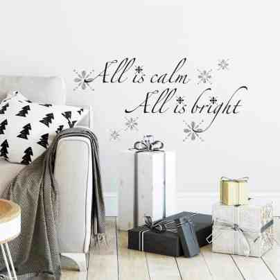All is calm Christmas decal