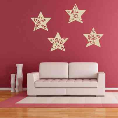 Star Christmas Wall Decal