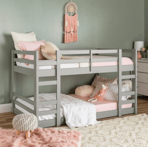 Gray Low Level Bunk Beds