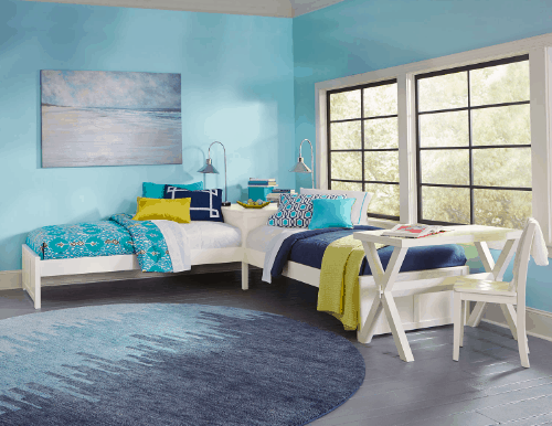 White Corner Beds for Shared Kids Rooms