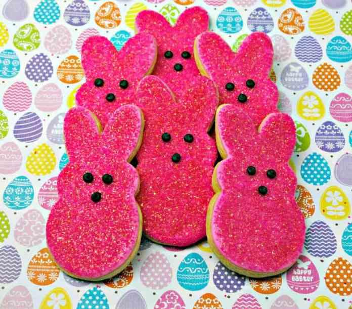 Pink bunny peeps cookie recipe