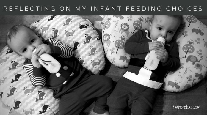 infant feeding choices for twins