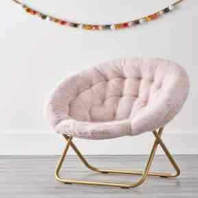 faux fur pink chair