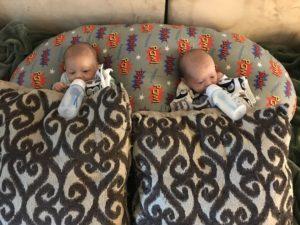 bottle feeding twins in twinz