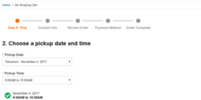 clicklist reserve time and date