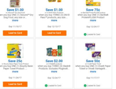 coupon savings loaded with clicklist