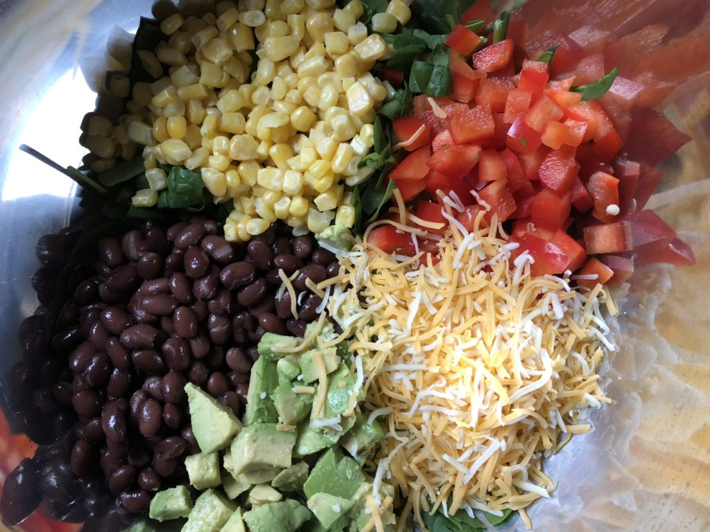 15 Minute Black Bean Taco Salad with Homemade Dressing