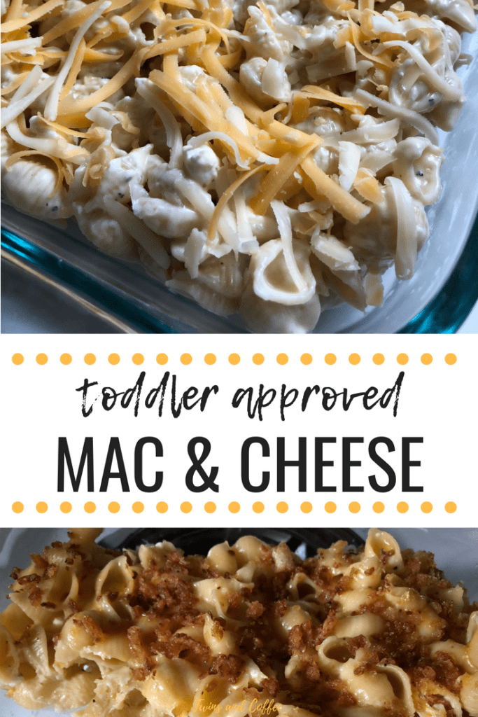 best baked mac and cheese recipe that is toddler approved and has three types of cheese