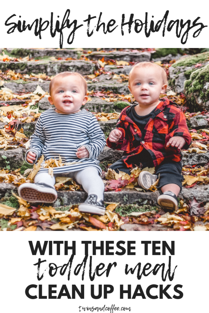 Simplify the holidays this Christmas with ten toddler holiday meal hacks for easy clean up.