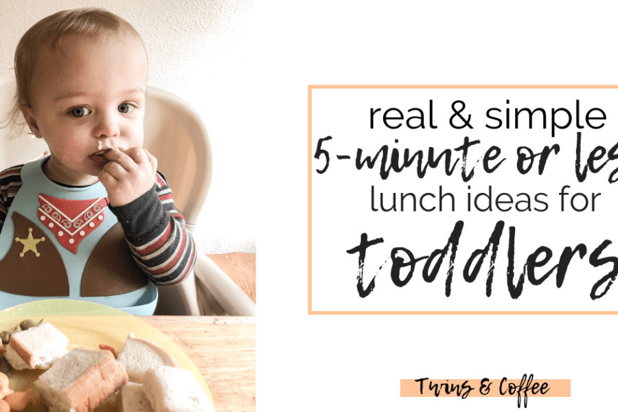 Real and simple five minute lunches for toddlers. Click for a full week of lunch ideas that I have actually timed to give you a real life idea of what you should make your toddler for lunch today. This blog post is sponsored by Fred Meyers and their awesome selection of quality foods any mom can feel proud to feed her family.