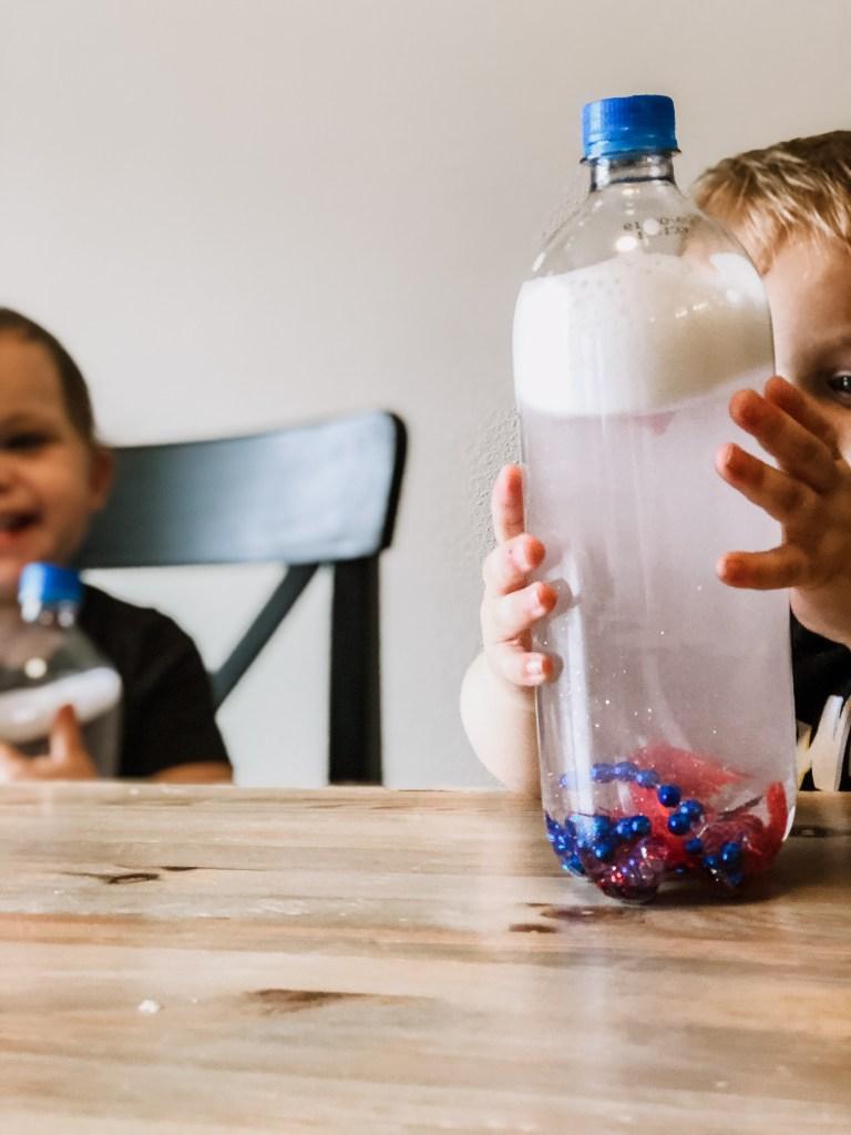 sensory bottle idea