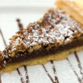 Chocolate Chip Pie with Walnuts