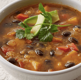 30-Minute Vegan Black Bean Pumpkin Soup