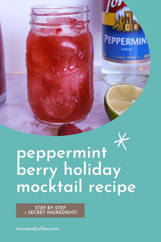 torani peppermint syrup berry peppermint mocktail