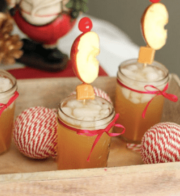 fizzy apple cider mocktail drink recipe