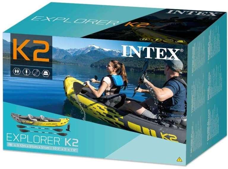 paquete del kayak inchable explorer k2