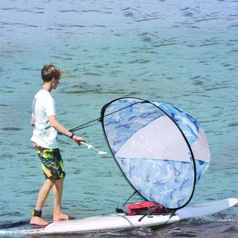 MODGS Vela para Kayak, Claro Kayak Doble Viento a Favor del Viento Vela Remo de Canoa Plegables Botes inflables Accesorios para Kayaks Tabla Hinchable Paddle Surf Sup Paddel masterly