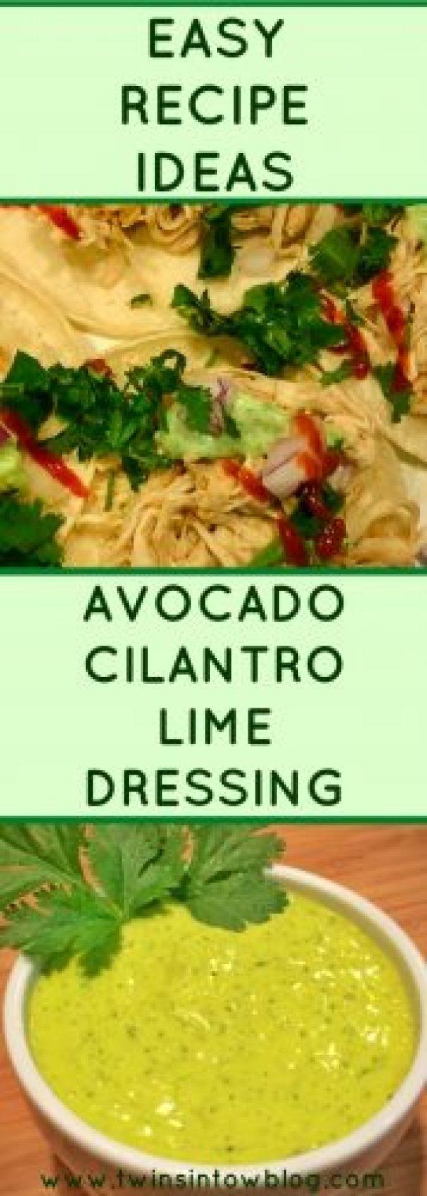 AVOCADO CILANTRO LIME DRESSING
