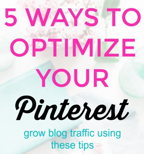 how to optimize your pinterest