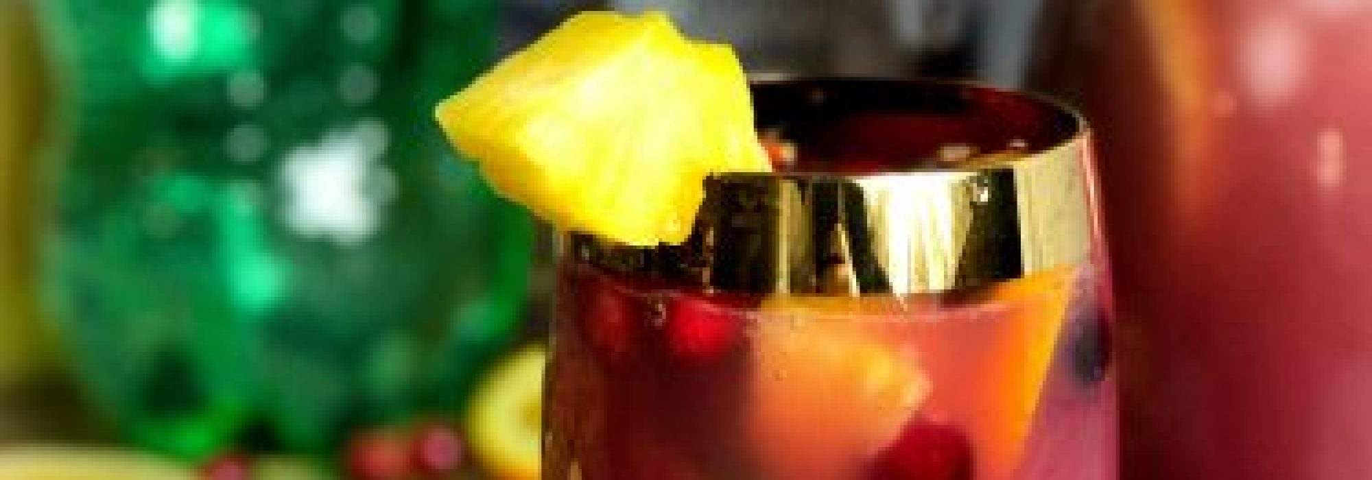 Mocktails and Cocktails: Holiday Punch and Holiday Rum Punch