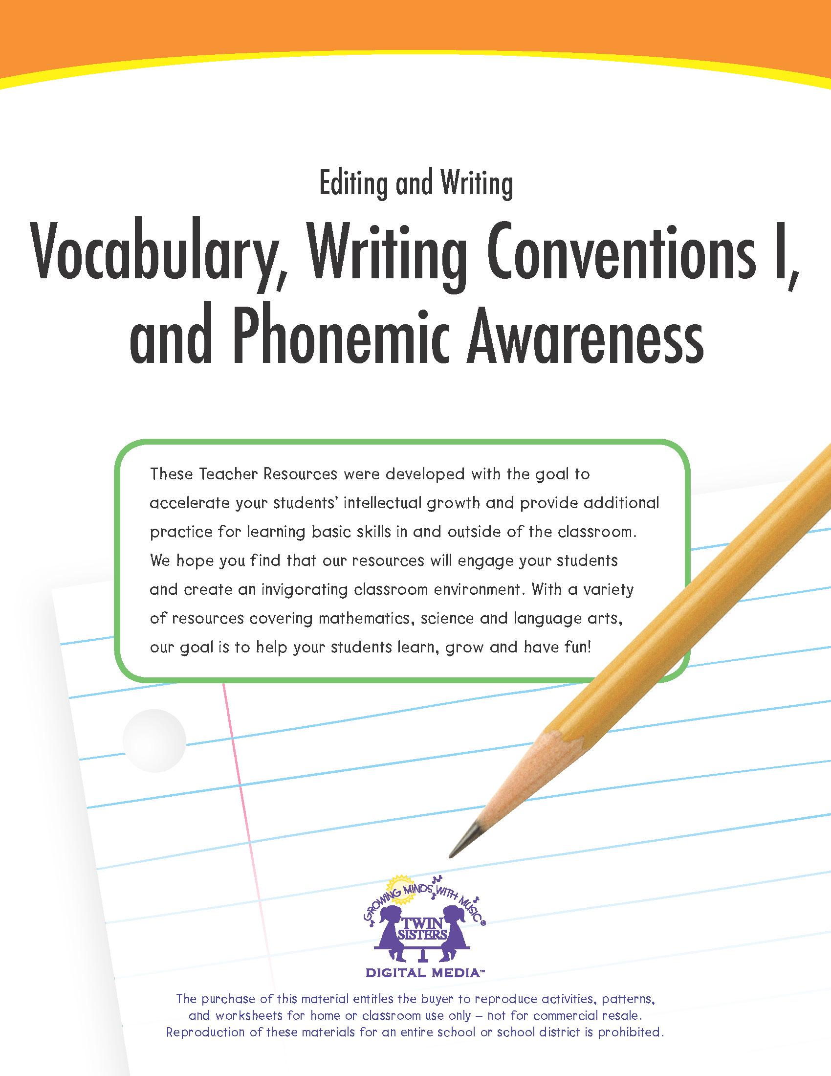 Editing And Writing Vocabulary Writing Conventions I