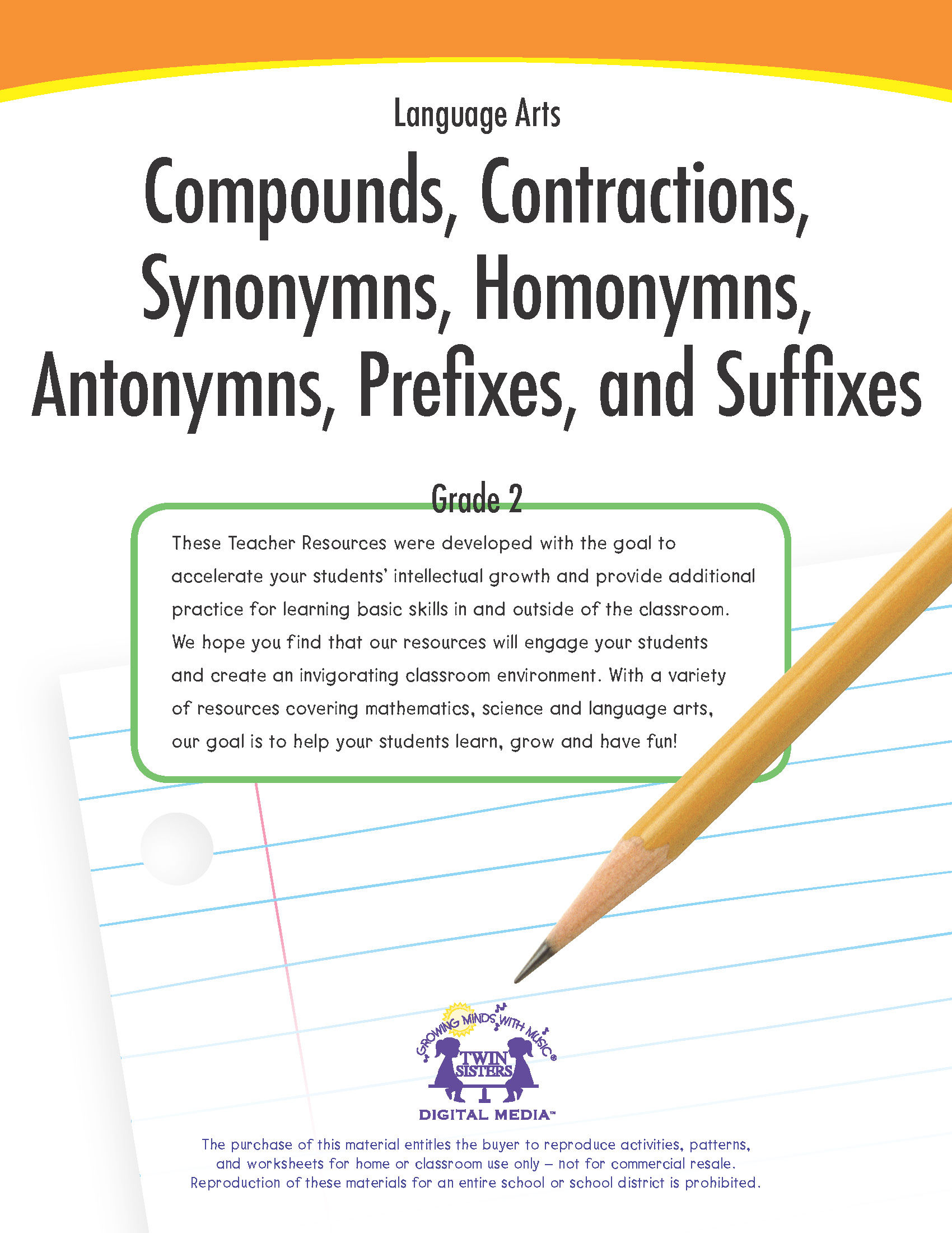 hight resolution of Language Arts Grade 2: Compounds