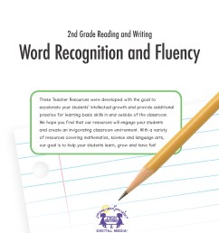 2nd Grade Reading and Writing: Word Recognition and Fluency   Twin Sisters [ 2200 x 1700 Pixel ]
