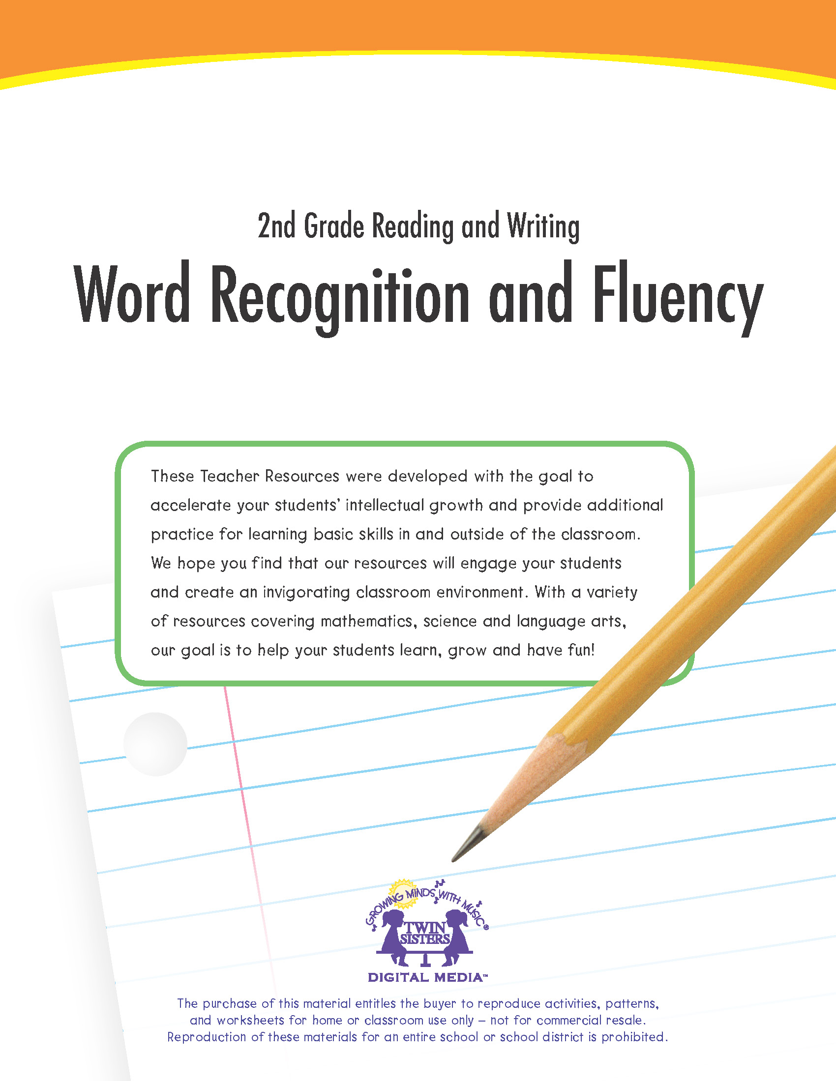 hight resolution of 2nd Grade Reading and Writing: Word Recognition and Fluency   Twin Sisters