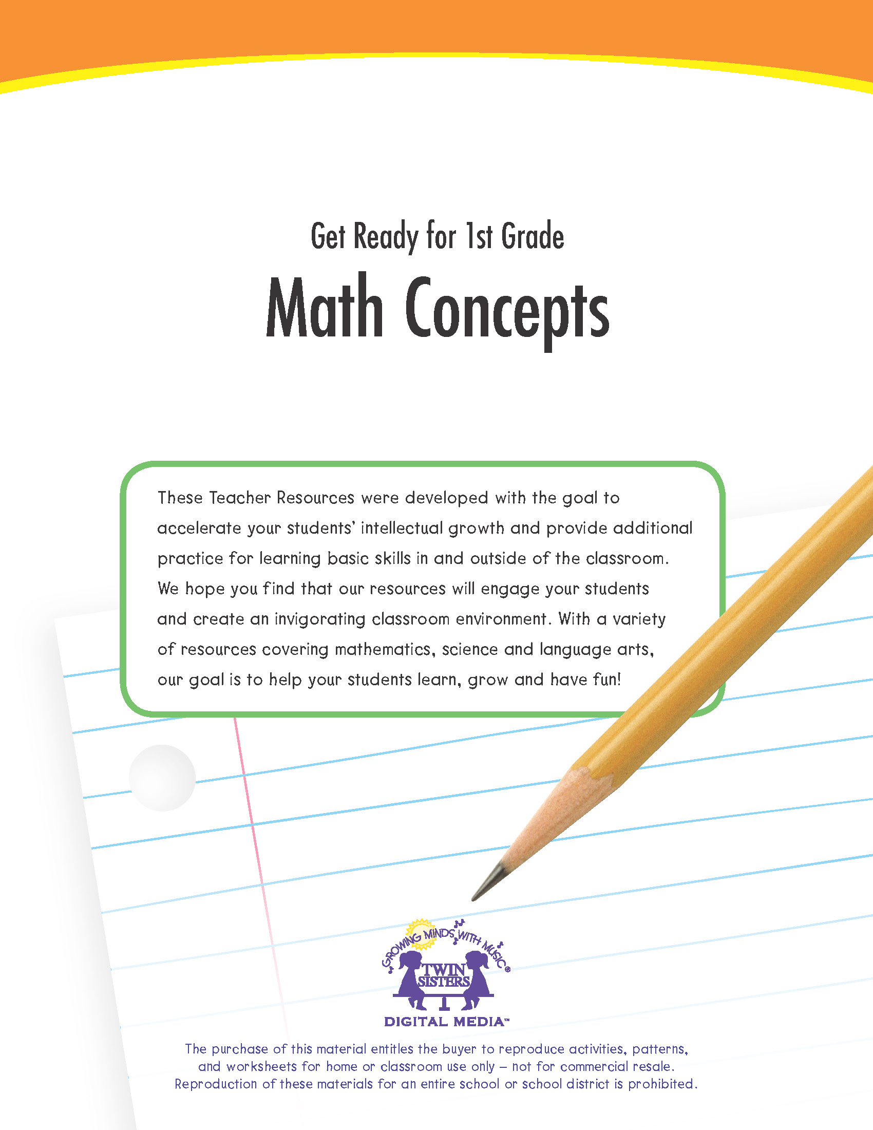 Get Ready For 1st Grade Math Concepts