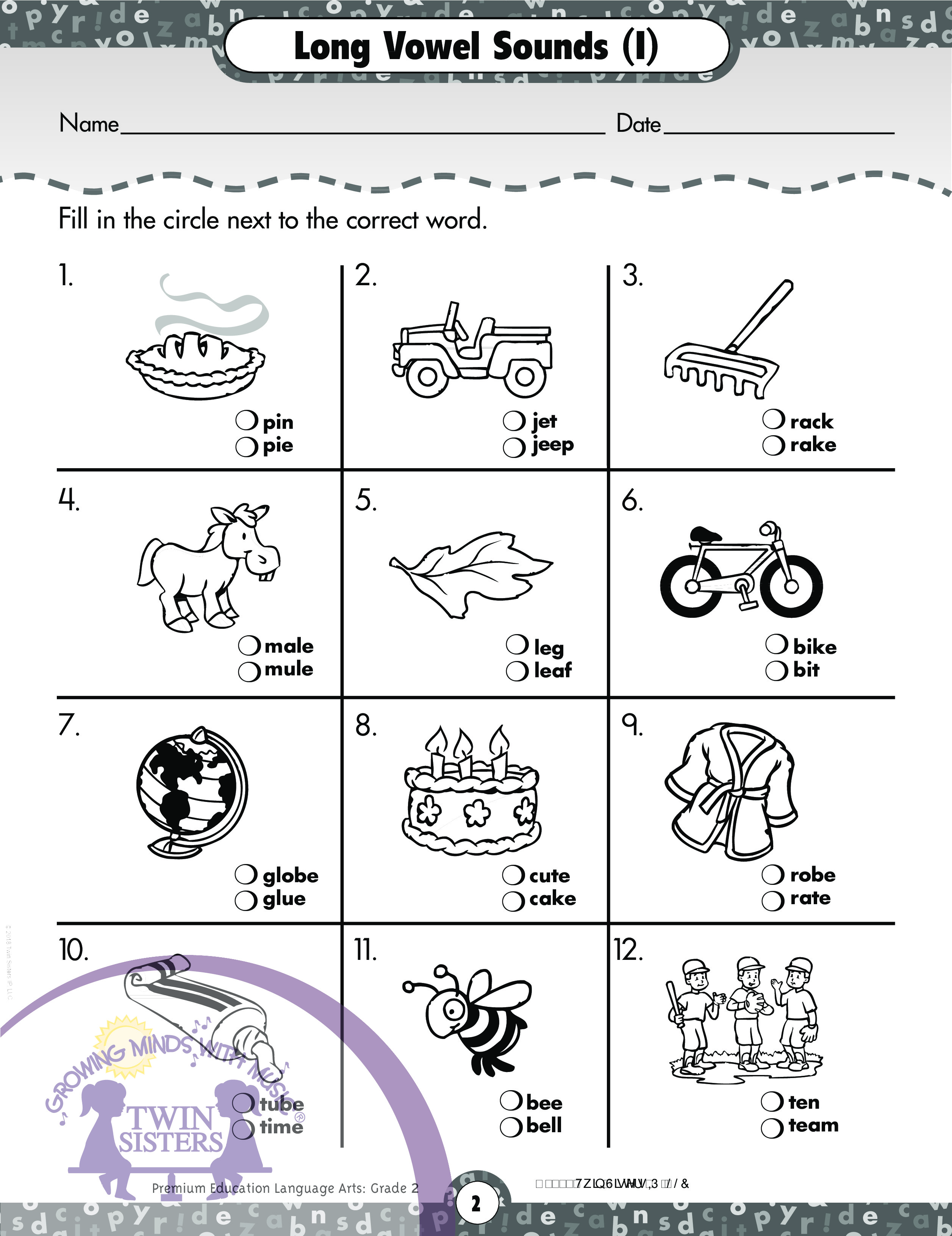 Diphthongs Worksheet Grade 3