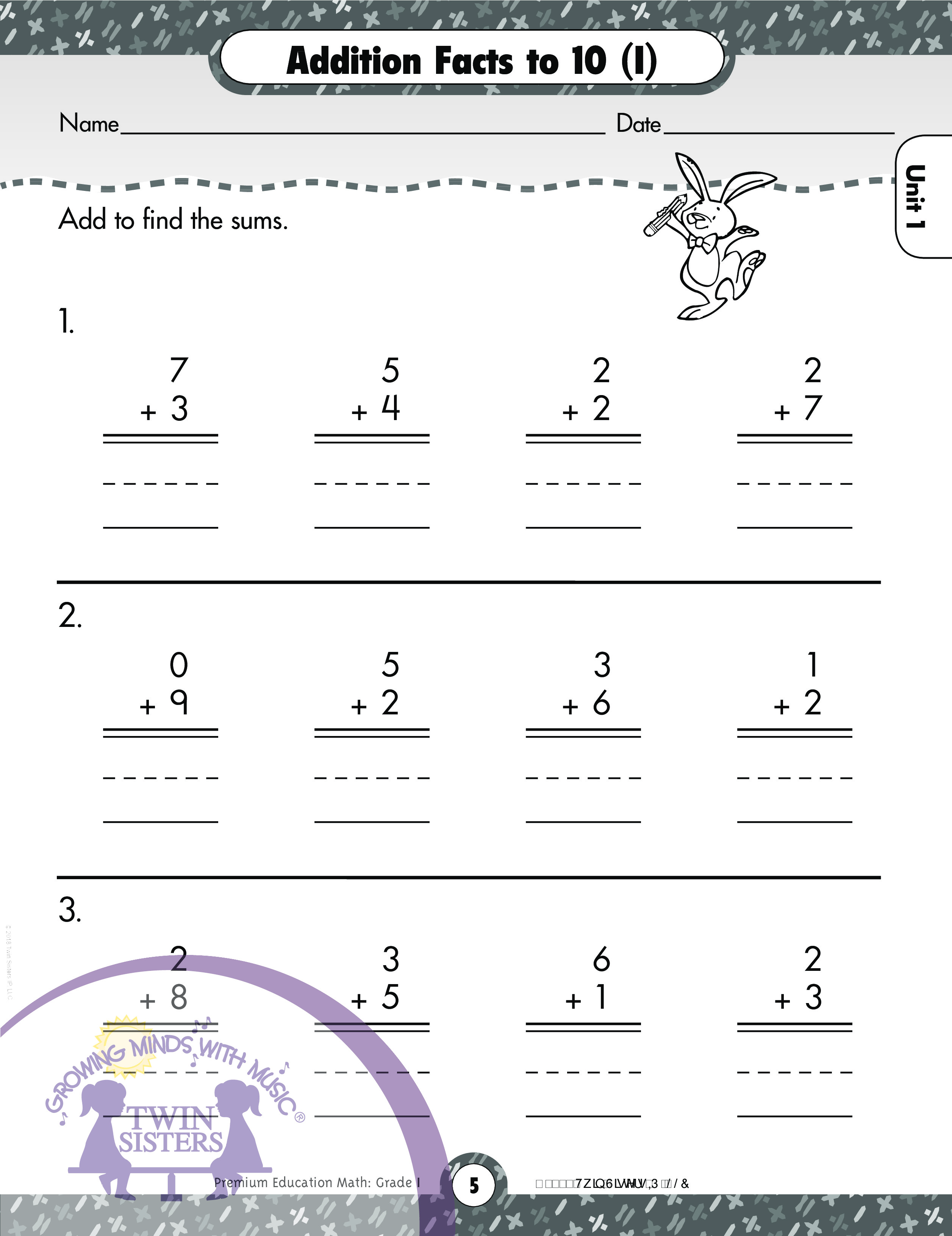 Math Grade 1 Addition And Subtraction Facts 1 10