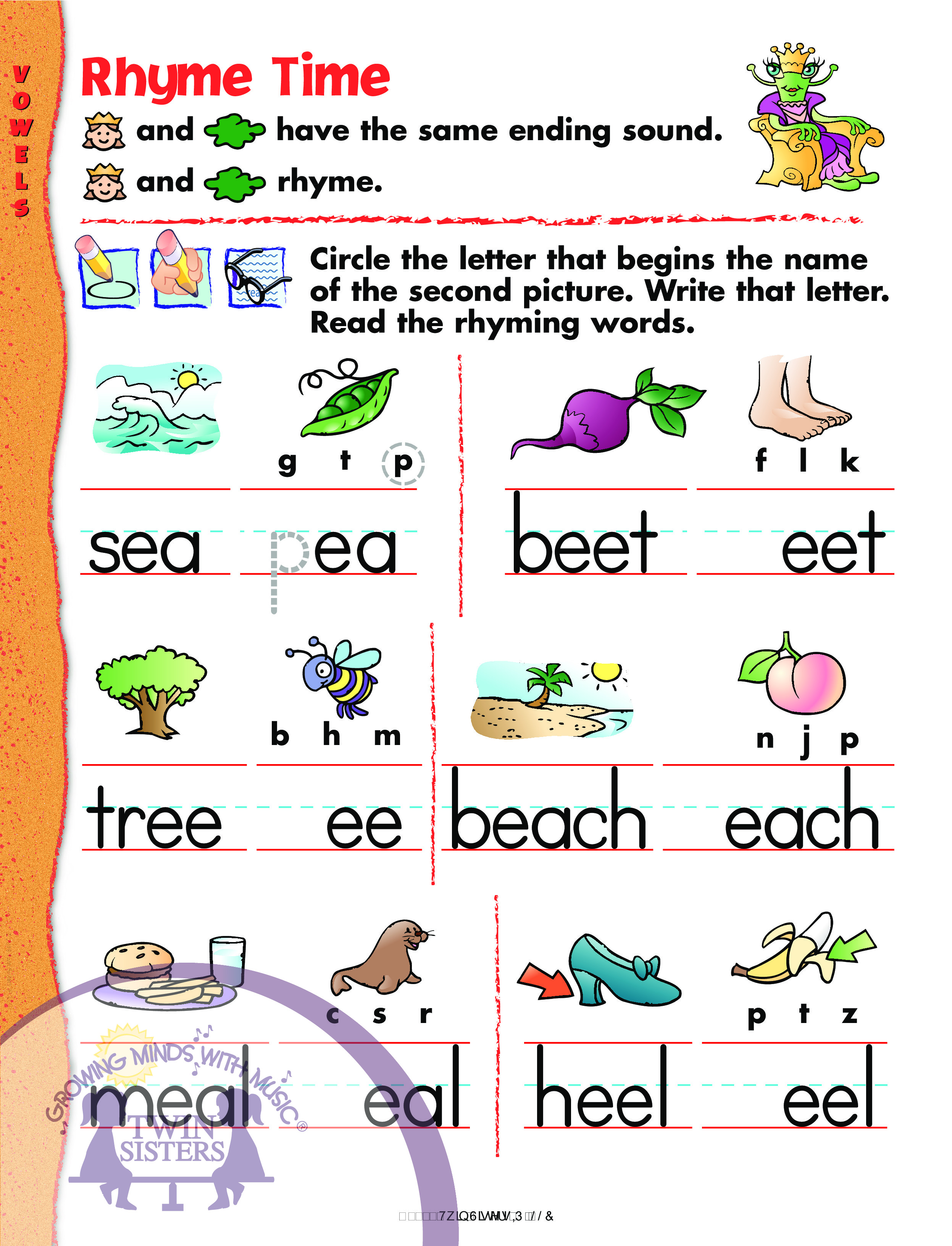 Prek Learning Blends And Digraphs Vowels And Word Parts
