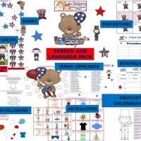 President's Day Speech & Language Packet + Free pages!