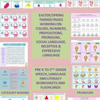 EASTER Pre-K to 2nd Grade Eggstravaganza: Language, Concepts, Speech, & Literacy