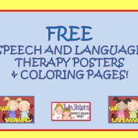 FREE!!! Speech & Language Therapy Door Signs & Coloring Pages